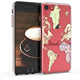 kwmobile Apple iPhone 7/8 Hülle - Handyhülle für Apple iPhone 7/8 - Handy Case in Schwarz Mehrfarbig Transparent