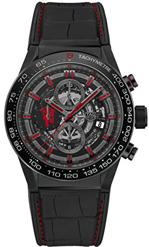 Tag Heuer Carrera Kaliber Heuer 01 Automatik Chronograph Limited Edition Red Devil Manchester United car2 a1j. fc6400