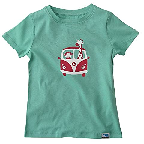 IceDrake Baby & Kinder T-Shirt Affe, Giraffe (grün) aus Bio Baumwolle