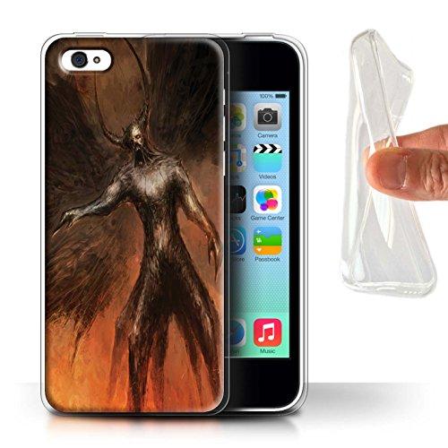 Offiziell Chris Cold Hülle / Gel TPU Case für Apple iPhone 5C / Pack 10pcs Muster / Dunkle Kunst Dämon Kollektion Schwarzen Flügeln