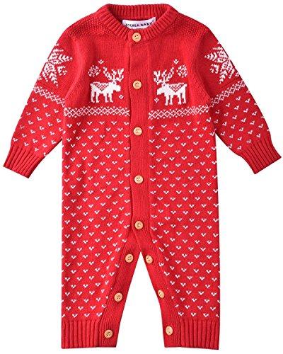 27873b66ea871 ZOEREA Bebe Unisexe Barboteuse À Capuche Noël Chaude Veste en Coton Pull  Manches Longues Vêtements de