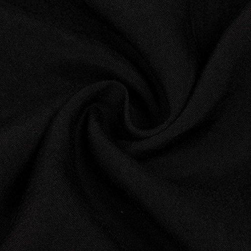 Homebaby® Boemia Abiti Lunghi Donna Eleganti - Vintage Estivi Vestiti Casual Donna - Maxi Abito Abiti Donna Formale Vestiti Estate Abiti Donna Eleganti Lunghi Vestito Cerimonia Nero
