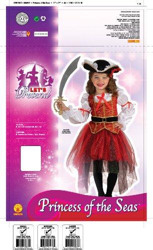 Imagen de princess of the seas  pirate  niños disfraz  grande  147cm alternativa