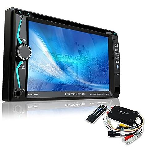 Tristan Auron BT2D7011 Autoradio + DVB-T Box | 6,2'' Touchscreen | Freisprechfunktion | SD/USB-Slot | CD/DVD | 2 DIN