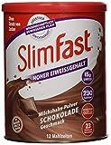 SlimFast Milchshake Pulver Schokolade I Kalorienreduzierter Diät-Shake mit hohem Eiweißanteil I Diät-Pulver für eine gewichtskontrollierende Ernährung I Nur 230 Kalorien pro Protein-Shake I 450 g