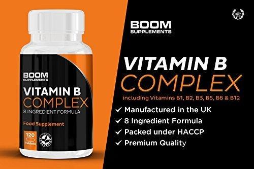 Complejo de Vitamina B Max Fuerza | Vitamin B Complex | Vitamina B Complejo | 120 comprimidos complejos potentes de vitamina B | Oferta completa de 4 meses | Seguro y eficaz | 30 días de garantía de devolución de dinero