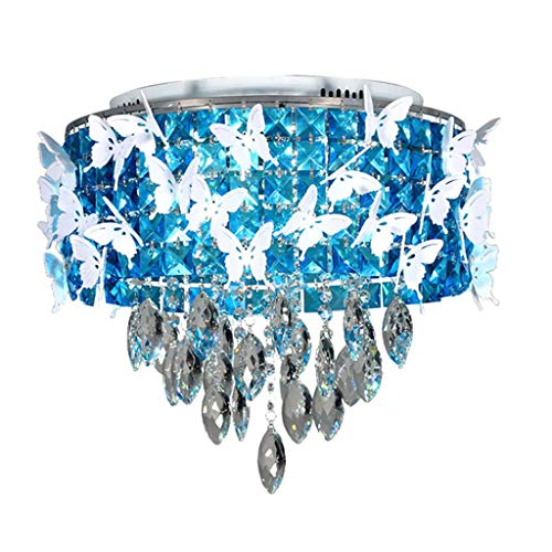 Spots de plafond Plafonnier Cristal LED Plafonnier Simple Moderne Chaud Romantique Lustre Salon Salle À Manger Chambre Plafonnier (Color : Blue, Size : 50 * 50 * 44cm)