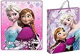 Trendstern Trendprodukteshop Frozen Disney Decke Kuscheldecke Fleecedecke 120 x 140 cm + Geschenktüte (lila)