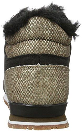 Pepe Jeans London Gable Fur Bootie, Sneaker a Collo Alto Donna Oro (Mixing)