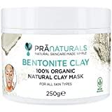 PraNaturals Bentonite Clay Mask, Natural Deep Skin Pore Cleansing Montmorillonite Calcium Active Pure