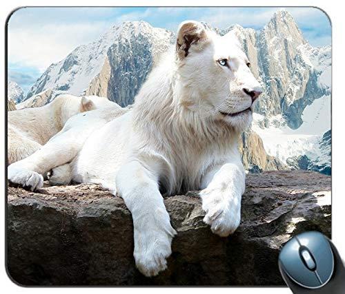 Schnee - Löwe Personalisierte rechteckige Mousepad, Druck - Skid - Komfort Maßgeschneiderte Computer - Maus - Pads Mousepad - Mousepad -