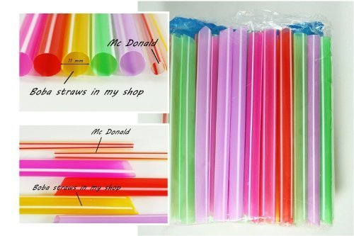 nking Straws Party Smoothies Cocktail Milk Shakes Tea Bubble Jumbo Fat Giant, Garden, Haus, Garten, Rasen, Wartung (Milk Tea Bubble Tea)