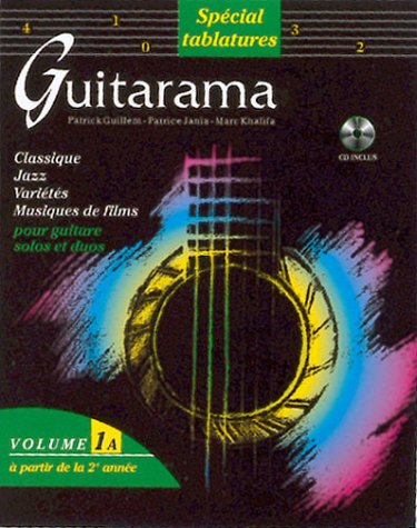 Partition : Guitarama volume 1A (édition Tablatures) + CD