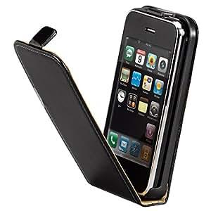 Hama Leder Flap-Tasche (geeignet für Apple iPhone 3G/3GS) schwarz