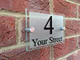 Targhetta per il numero civico e la via, in stile moderno