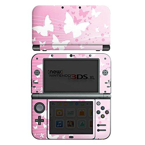 DeinDesign Skin kompatibel mit Nintendo New 3DS XL Aufkleber Sticker Folie Butterfly Schmetterling Kreise