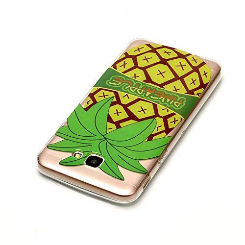 Qiaogle Téléphone Coque - Soft TPU Silicone Housse Coque Etui Case Cover pour Apple iPhone 6 / iPhone 6S (4.7 Pouce) - XS42 / Pink fleur XS36 / Pineapple