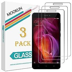 MOOKLIN [3 Stück] Panzerglas Displayschutzfolie für Xiaomi Redmi Note 4 / Note 4X, 9H Härte, Anti-Kratzen, Anti-Bläsche