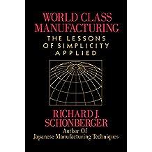 World Class Manufacturing (English Edition)