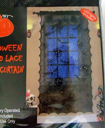 Nantucket Halloween erleuchtet Spitze Fenster Vorhang