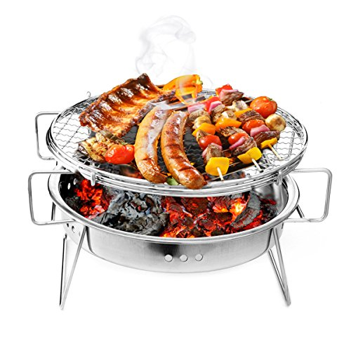 LaDicha Barbecue BBQ Grill Holzkohlegrill Rost Frei Steel Patio Camping Picknick Kocher