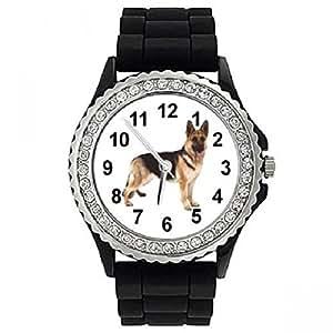 Timest sgp323cz–Montre bracelet pour femme, bracelet en silicone noir