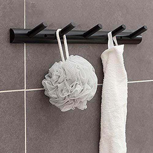 mit 4 Kleiderhaken Naturholz Handgemachtes Handwerk Hutablage Kleiderbügel Handtuchhalter Home Storage Deco für Hutkleid,Black,5hooks ()
