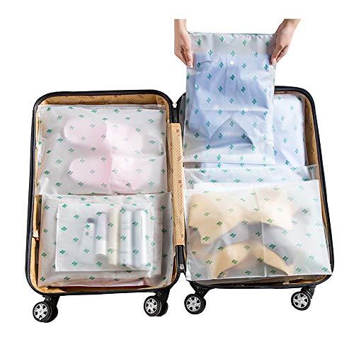 Vankra 10pz custodia impermeabile da viaggio, con chiusura a pressione in plastica trasparente satinato con chiusura ermetica, per abiti, numero 3