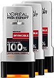 L'Oréal Men Expert Invencible Parfum Intense Gel de ducha para los hombres 300 ml - juego de 3