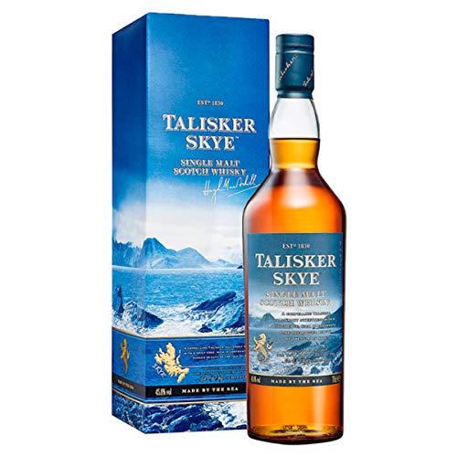Talisker Skye Scotch Whisky Single Malt - Whisky Scozzese Puro Malto dell'isola di Skye - Torbato, dolce e speziato con gusto marino e affumicato - In confezione regalo - 1 x 70 cl