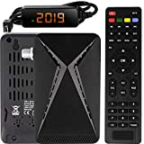 Echosat OM-26100 Mini Sat Receiver -DVB S/S2 Satelliten Receiver Full HD 1080 P HDMI 2 x USB 2.0 HDTV [Digital Satelliten Receiver] ️{Astra Hotbird Türksat }️-Schwarz
