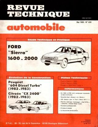 Revue technique automobile n° 433 Ford Sierra 1600, 2000