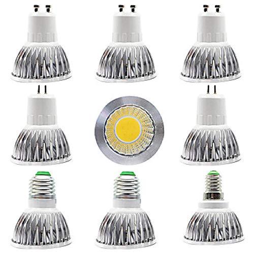 Gliihlampen Led9Pcs 12W Led Scheinwerfer 300 Lm E14 E27 Gu10 Gu5.3 1 Led Korne Pfeiler Hauptspeicher-Beleuchtungsquelle Warmes Weißes Weiß 85-265V Warmes Weiß -