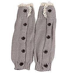 Girls Leg Warmers, Kalorywee Kids Girls Crochet Knitted Lace Boot Socks Toppers Cuffs Leg Warmers