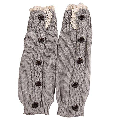 Stulpen, Mädchen, kalorywee Kids Mädchen Häkel Strick Lace Boot Socken Topper Manschetten Beinlinge (Kids Lace Boot Socken)