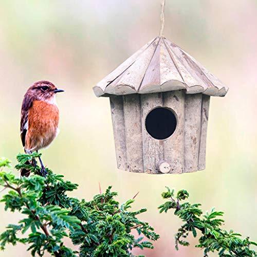 Handgefertigtes Vogelhaus aus Holz, umweltfreundlich, für Vögel, rund, zum Basteln, Massivholz, antiseptisches Vogelnest