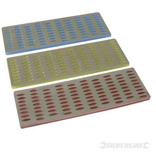 Preisvergleich Produktbild Holzbearbeitung Teile Schärfen Diamantfeilen Card Set 3 PCE Farbe-Akkusystem 50 mm x 150 mm Diamantschleifstein Dateien zum Schärfen Taschenmesser, Meißel, router Ausstechern und kleine hand Tools. 3 verschiedene Stufen erhältlich: grob, feine und Extra fein. Benutzt werden oder mit ein bisschen Wasser für Innenschmierung. Nach dem Gebrauch gründlich abtrocknen.