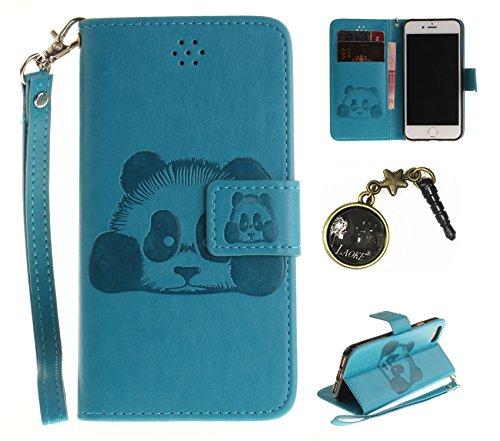 PU Prägen Panda Silikon Schutzhülle Handyhülle Painted pc case cover hülle Handy-Fall-Haut Shell Abdeckungen für Smartphone Apple iPhone 7 (4.7 Zoll) +Staubstecker (1CW) 6