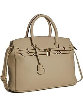 Damen-Handtasche aus Kunstleder von Big Handbag Shop, von Designern inspirierte Tragetasche Umhängetasche