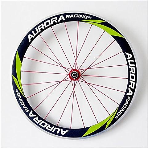 Aurora Racing 50mm de profondeur 23mm Largeur mm les Triathlons Alliage Pneu Carbone Roue Vélo de route de rayon 20/24trous DT Swiss 350S hub Sapim Cx-ray