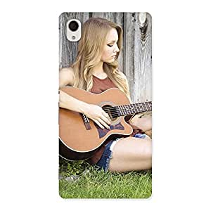 Girl Guitar Back Case Cover for Sony Xperia M4