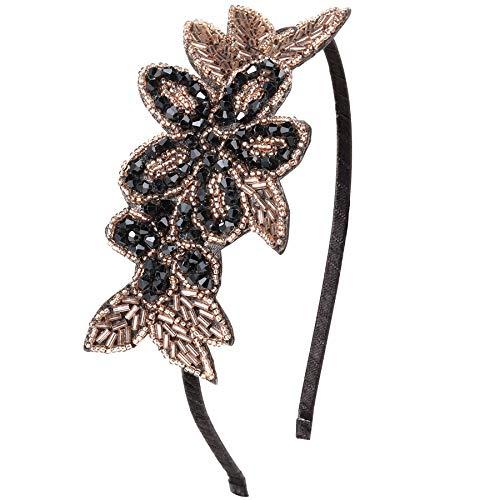 ArtiDeco 1920s Stirnband Damen Haarreif Gatsby Kostüm Accessoires 20er Jahre Flapper Haarband (Stil5 - Gold ()