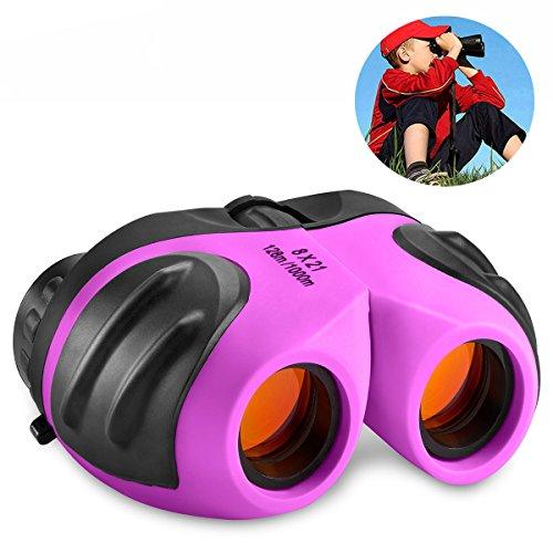 Regalos de Niña Adolescente, DMbaby Binocular Impermeable Compacto Bebé para Niños Juguetes para Niñas de 3-12 Años Púrpura DL06