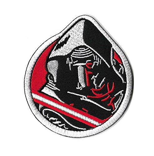 Kylo REN Patch (9cm) Aufbügeln oder nähen auf Badge Galactic Empire Erste Bestellung Aufnäher Souvenir DIY (Star Wars Diy Kostüme)