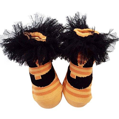 Zoylink 1 Paar Baby Halloween Socken Baumwollsocken Grimasse Decor Kostüm Socken für Neugeborene