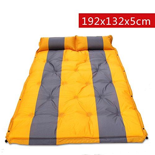 TYJ Picknick-Decken Automatisches Aufblasbares Auflage-Zelt Kann Gespleißte Doppelte Feuchtigkeitsfeste Auflage-Auflage-Matte Sein ( Farbe : Gelb , größe : 192*132*5cm )