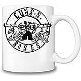 Guns N Roses Black Logo Taza Coffee Mug Ceramic Coffee Tea Beverage Kitchen Mugs By Genuine Fan Merchandise