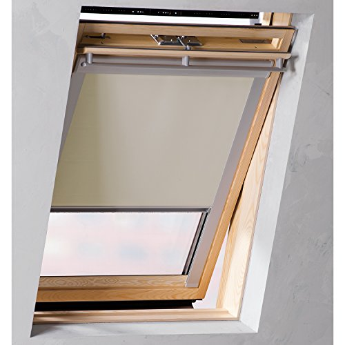 Sol Royal SolReflect D12 Dachfensterrollo Verdunkelung + Thermo + Hitzeschutz für Velux F06 alle Modelle Beige