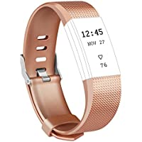 Fitbit Charge 2 Armband, Vancle Weiches Verstellbare Silikon Sports Ersetzerband Fitness Verstellbares Uhrenarmband für Fitbit Charge 2