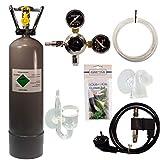 Guemmer products CO2 Anlage Komplettset für Aquarien mit Nachtabschaltung, Rückschlagventil und Co2 Dauertest (Ultimate, 2Kg)